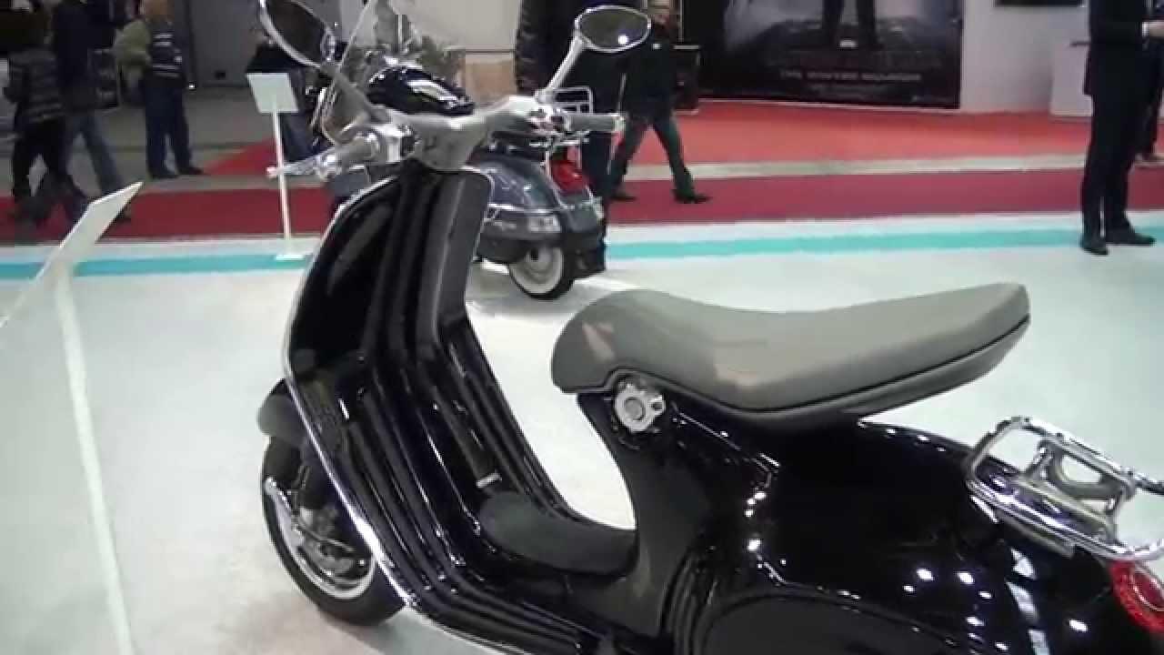 piaggio vespa italian style scooter - motodays bike show - youtube