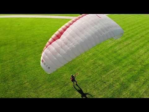 paraglider kiting drone vid