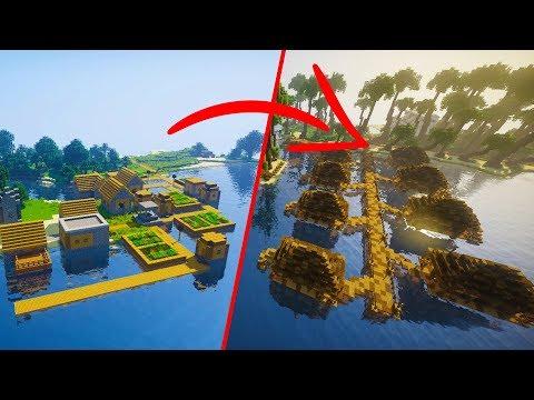EXTREME Minecraft Village Transformation | Tropical Resort Edition World Download
