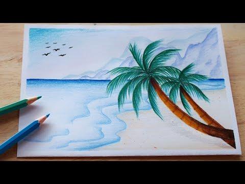 р╕зр╕▓р╕Фр╕гр╕╣р╕Ыр╕Чр╕░р╣Ар╕ер╕кр╕зр╕вр╣Жр╕Зр╣Ир╕▓р╕вр╣ЖЁЯПЦя╕П р╕кр╕╡р╣Др╕бр╣Й | How to draw Sea with Color Pencil/ Tutorial art