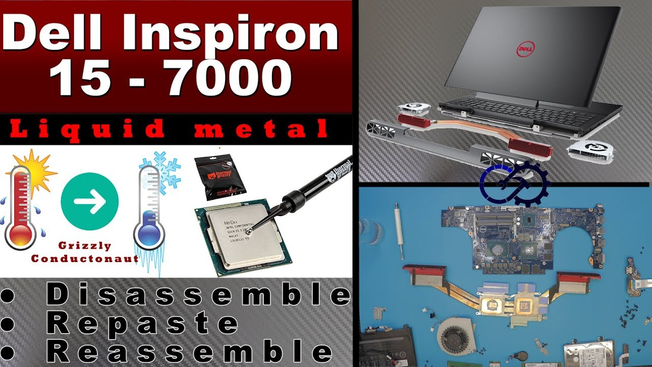 Dell Inspiron 15 7000 LIQUID METAL thermal compound and teardown