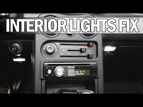 MX5 NA Miata - How To Fix Interior/courtesy Lights And Install LED Bulbs
