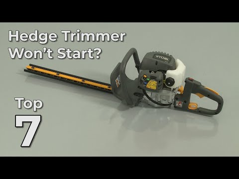 """Thumbnail for video """"Hedge Trimmer Won't Start? Hedge Trimmer Troubleshooting"""""""