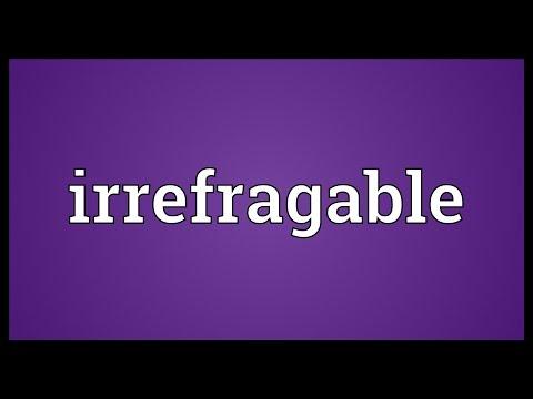 Header of irrefragable