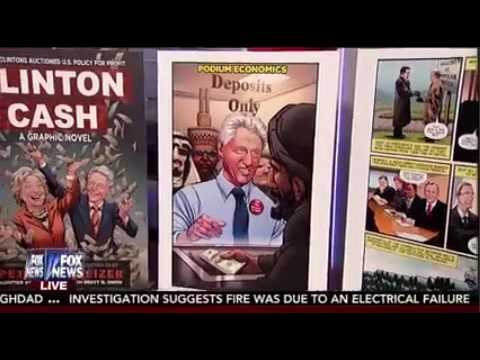 Peter Schweizer unveils the Clinton Cash Graphic Novel on Fox and Friends