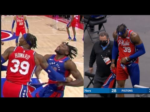 Pistons Players Strips Dwight Howard Of His Shorts But Howard Gets Technical For It!