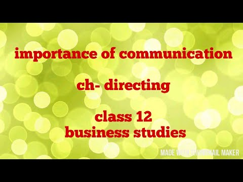 Importance Of Communication (class 12)