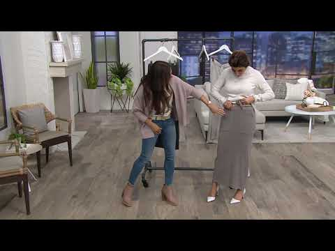 0d8fe3120c Barefoot Dreams Cozychic Ultra Lite Maxi Skirt on QVC - YouTube