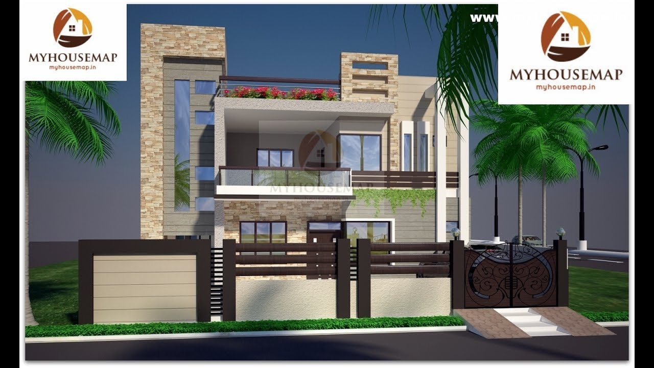 Indian home design glass balcony groove tiles modern home for Indian home outer design