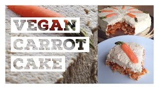 No Bake Vegan Carrot Cake! No Added Sugars Or Oils