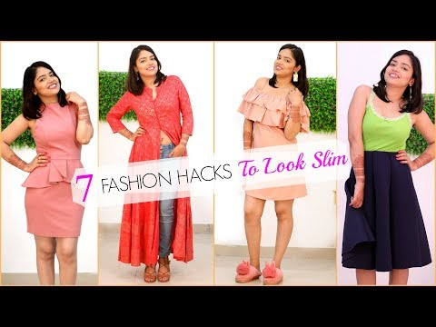 7 Life Saving FASHION HACKS To Look SLIM & Hide BELLY FAT | #Beauty #Fun #Anaysa