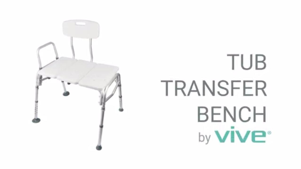 Tub Transfer Bench by Vive - Bath & Shower Transfer Bench ...