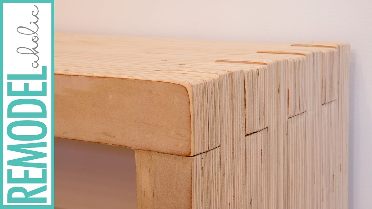 modern plywood bench with lap construction youtube