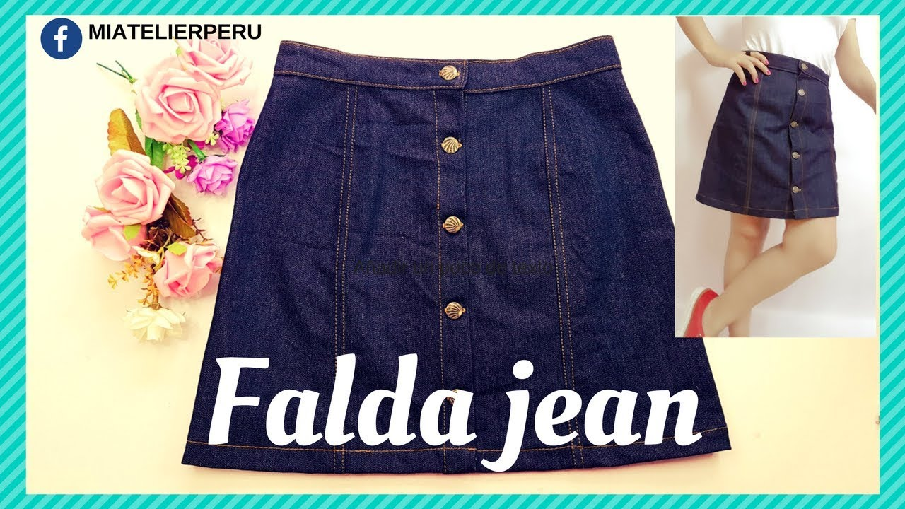 Cómo Hacer Una Falda Jean Patrón Y Confección