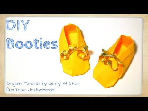 Diy Origami Booties How To Make Paper Craft Shoes Sneakers