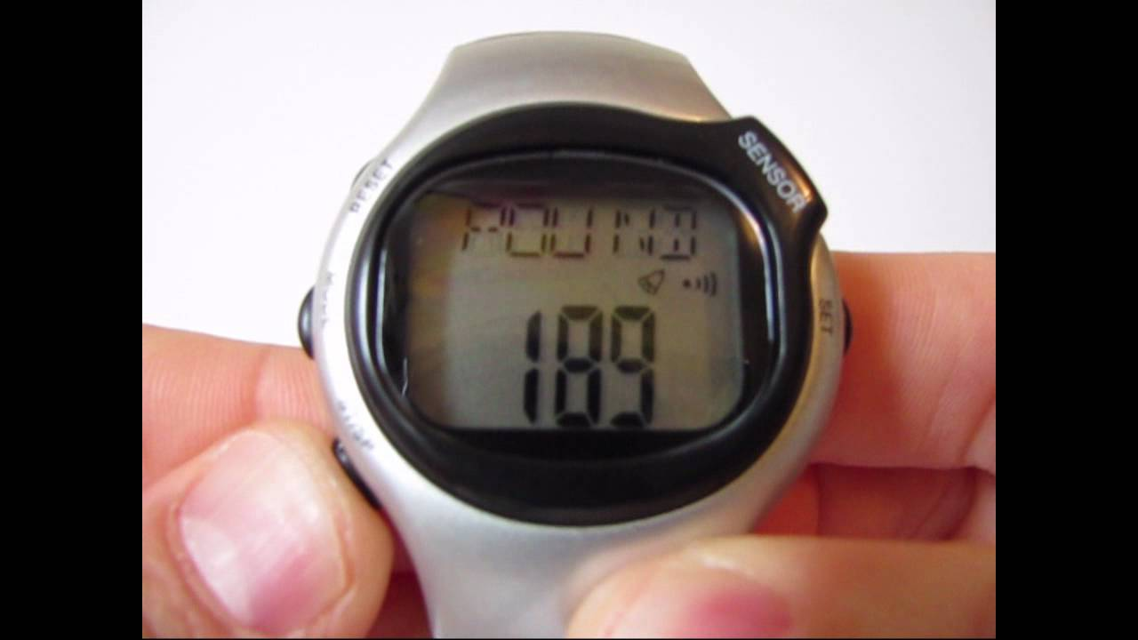 demo pulse heart rate monitor calories counter fitness watch youtube