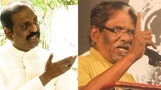 வைரமுத்து தலையை வெட்டுவேன்| Bharathiraja's Angry Speech Supporting Vairamuthu on Andal| RN 137
