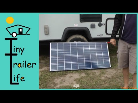 Solar Power System Install on a Travel Trailer