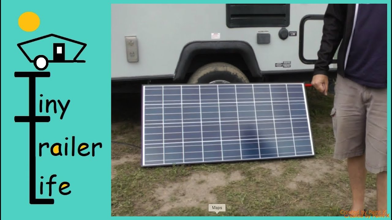 Solar Power System Install On A Travel Trailer Youtube Wiring Vintage