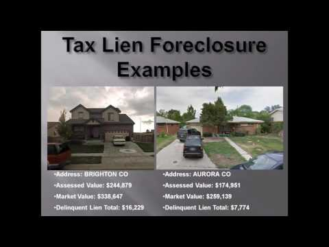 Colorado Tax Lien Certificates: Online Auction Investing Tutorial Video Training