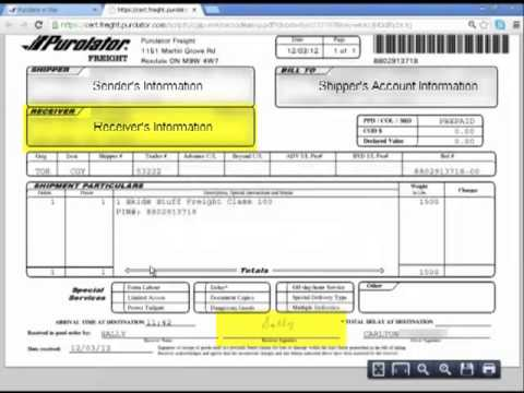 Purolator Freight® On Purolator E-Ship® Server (ESS) -- Track And Cancel A Shipment