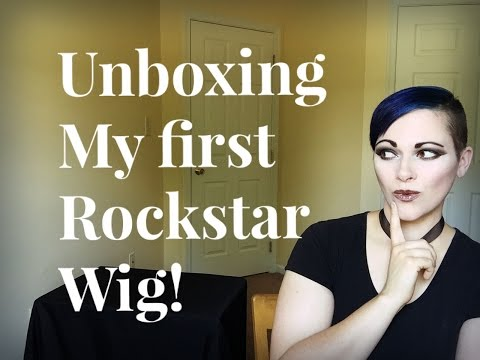 My First Rockstar wig!  Unboxing and Review