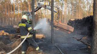 Pożar lasu !!! Ponad 6 hektarów w ogniu !!!
