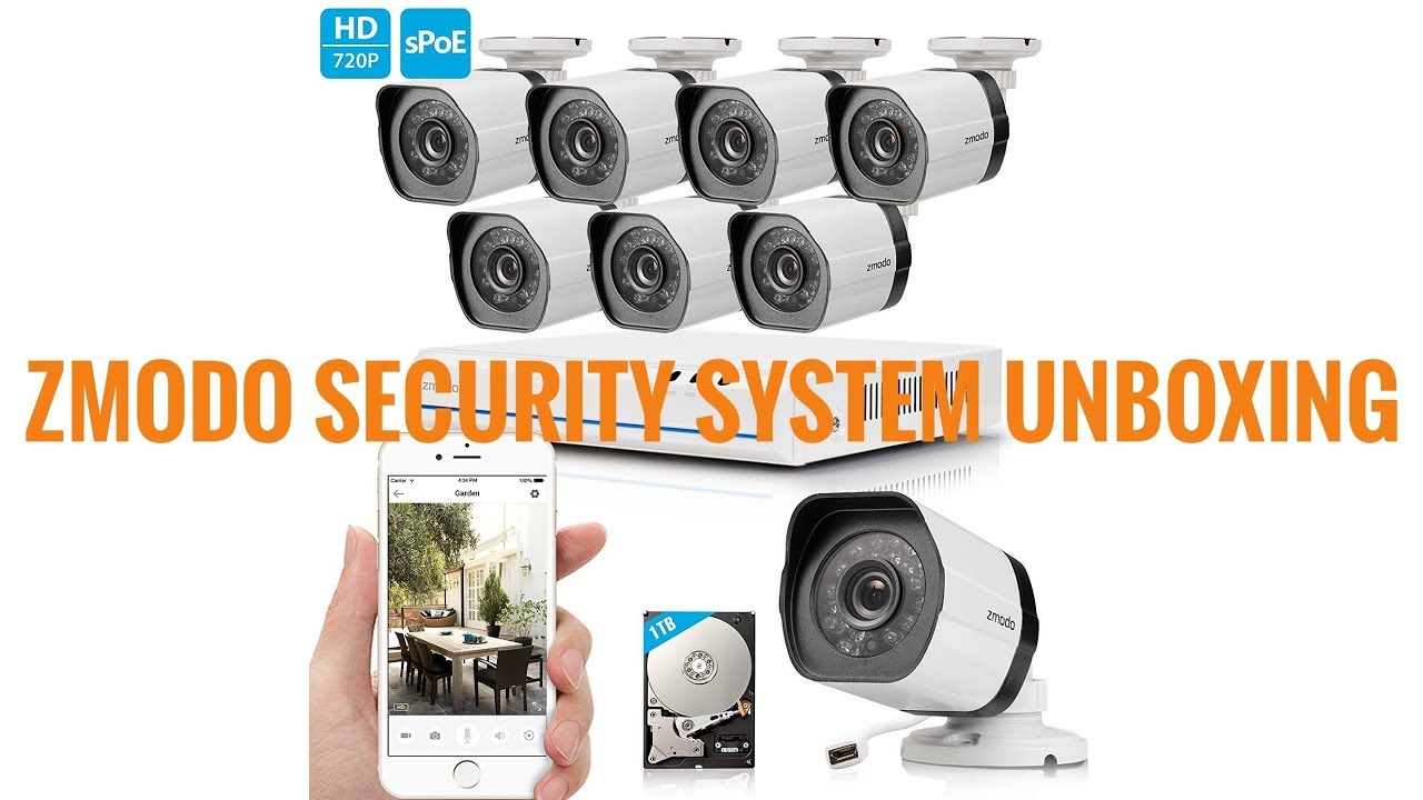 Zmodo 8CH HDMI NVR Simplified PoE Surveillance Video Security Camera System
