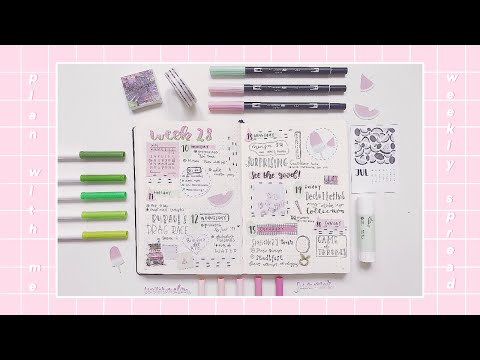 plan with me | weekly spread #1 bullet journal