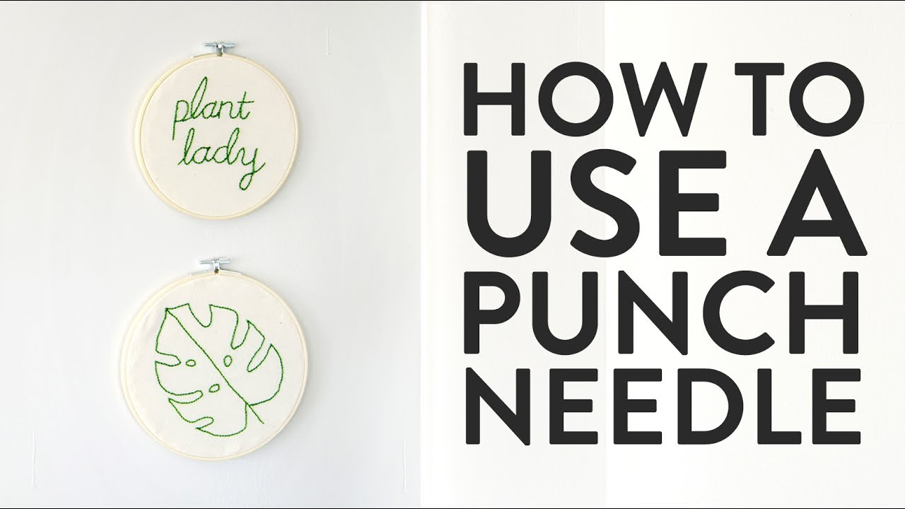 How to Use a Punch Needle (and Make Quick, Easy Embroidered Wall Art!)