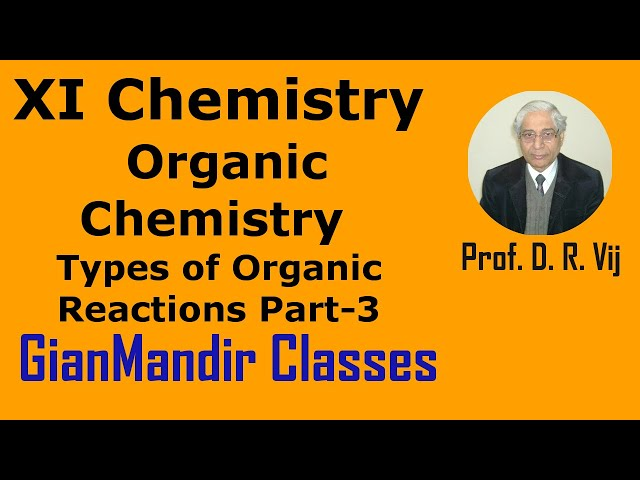 XI Chemistry | Organic Chemistry | Types of Organic Reactions Part-3 by Ruchi Ma'am
