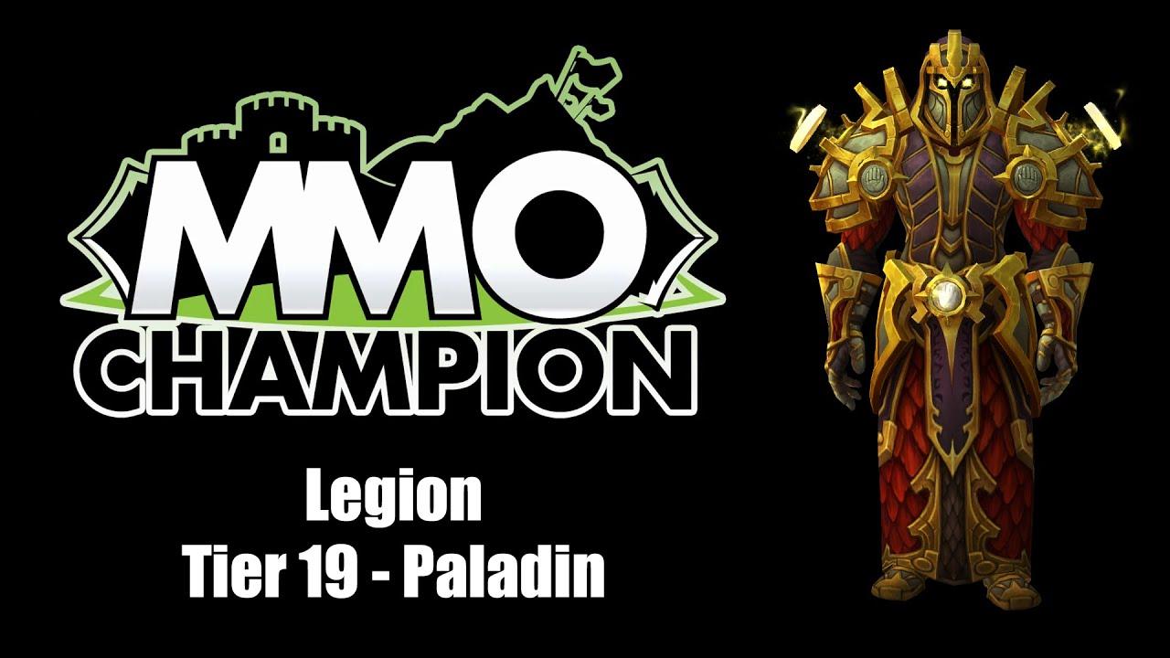 Legion - Tier 19 Paladin Armor Sets - YouTube