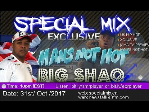 Big Shaq - Man's Not Hot - Smashed Jamaica Radio on the Special Mix Show