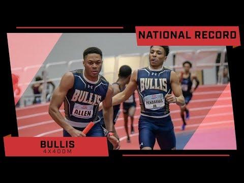 NATIONAL RECORD 3:12 High School Indoor 4x400m