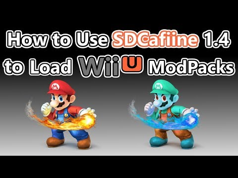 How to Soft-Mod WiiU - Pt 8 - SDCafiine - Load Multiple Mods from SD or USB! (Smash Mods & More)