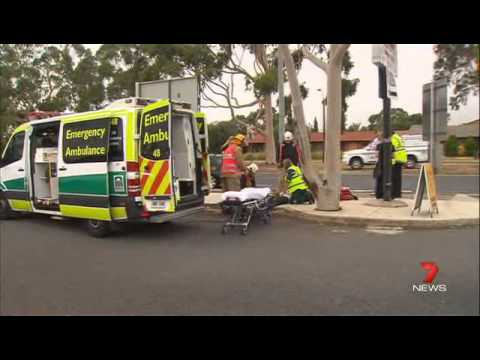 Channel 7 young nurse survives falling asleep behind the wheel Interview ED 24Jan14