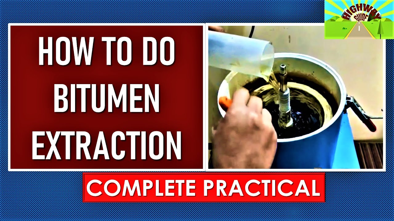 How To Do Bitumen Extraction Youtube