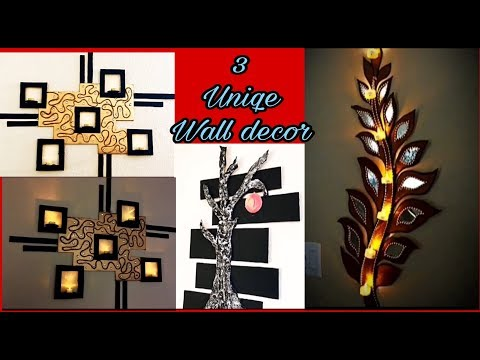Wall  decoration ideas | cardboard crafts |  home decoration handmade things | Fashion pixies