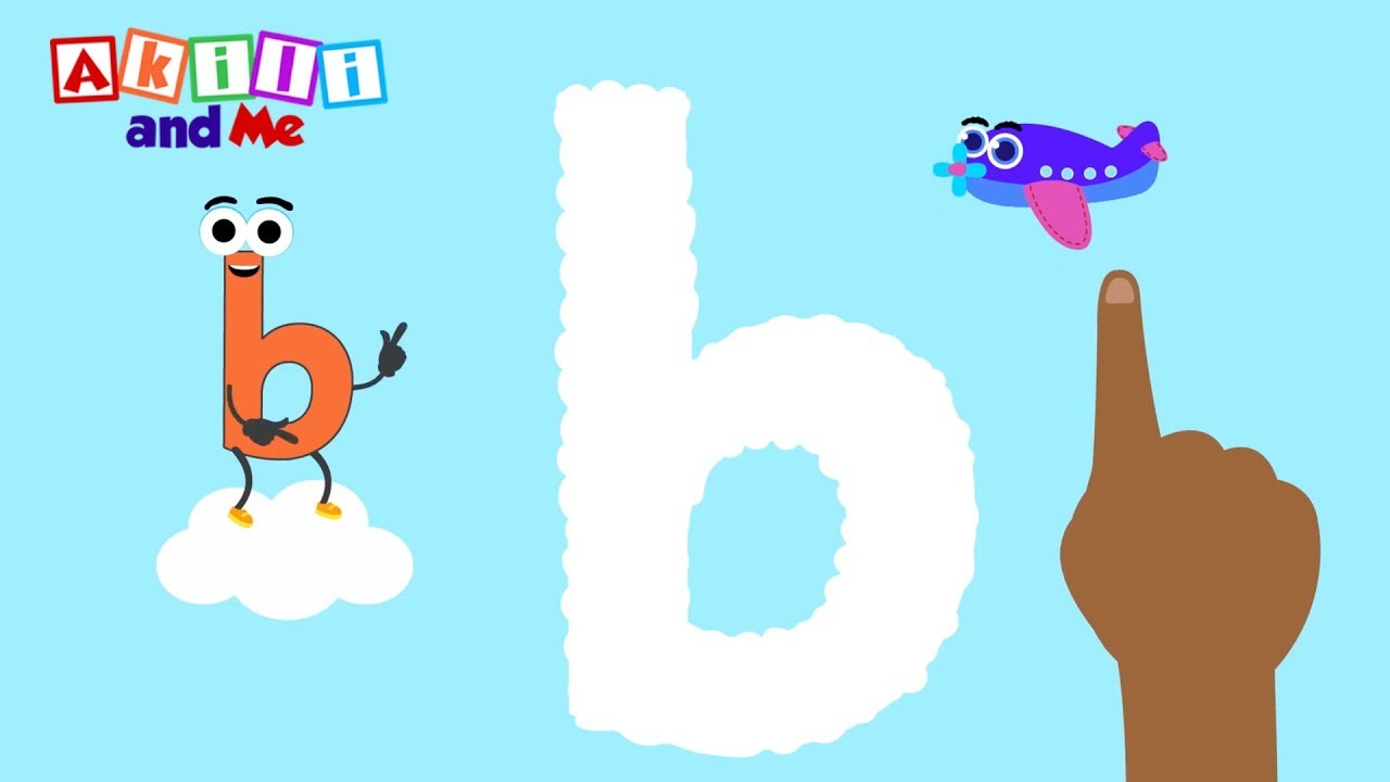Bouncing Letter b!   Learn early literacy with Akili and Me African cartoons!