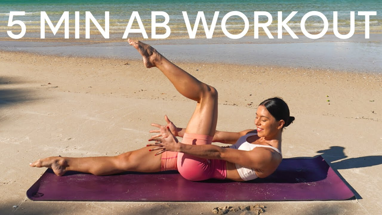 5 MIN AB WORKOUT    At-Home Pilates (No Equipment)