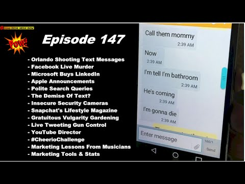 #Orlando Shooting Text Messages & Facebook Live Murder - BEYOND SOCIAL MEDIA SHOW #147