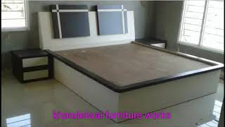 Wooden double bed designs   Wood bed ideas   Home furniture