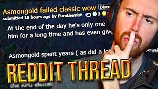 Asmongold FAILED Classic WoW - Reddit Hate
