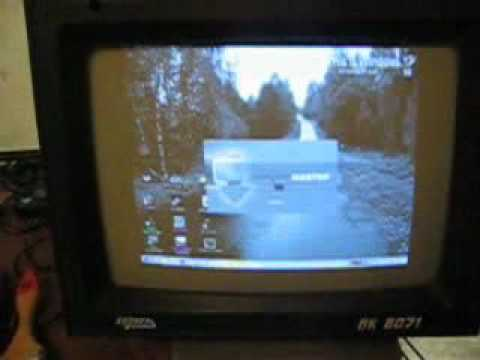 Monitor Corvette BK8071 on IBM PC!