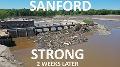 SANFORD MICHIGAN FLOOD - 2 WEEKS LATER - METRO DRONES