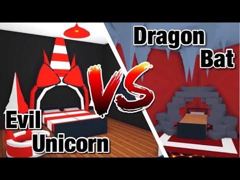 Evil Unicorn Vs Bat Dragon Bedroom Design Ideas Building Hacks Lava Cave Roblox Adopt Me Youtube