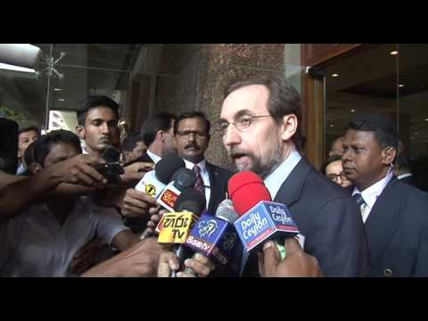UNHR Chief Prince Zeid Ra'ad Al Hussein in Sri Lanka