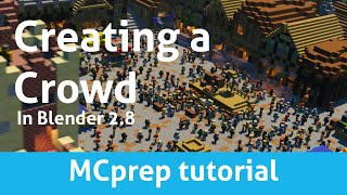 How To Create A Bustling Crowd Simulation In Blender 2.8