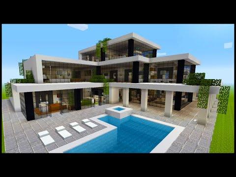 Minecraft: Modern Mansion Tour #1