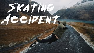 CRAZY SKATING WIPEOUT ON ICE // FAROE ISLANDS